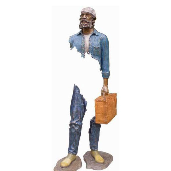 Abstract bruno catalano Bronze Traveler Sculpture for Sale