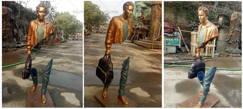 Art Bronze Traveler Sculpture