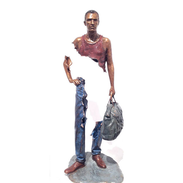 Custom Bronze Traveler Sculpture for Sale