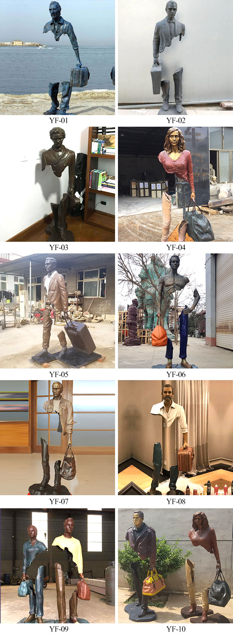Famous Bruno catalano sculpture statue replica for outside