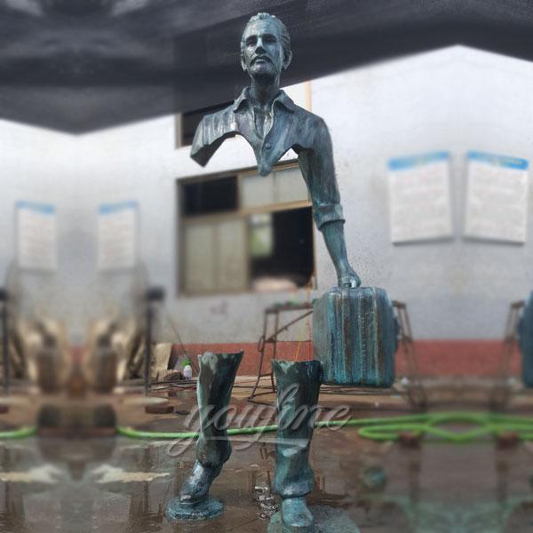 Life size bronze casting sculpture