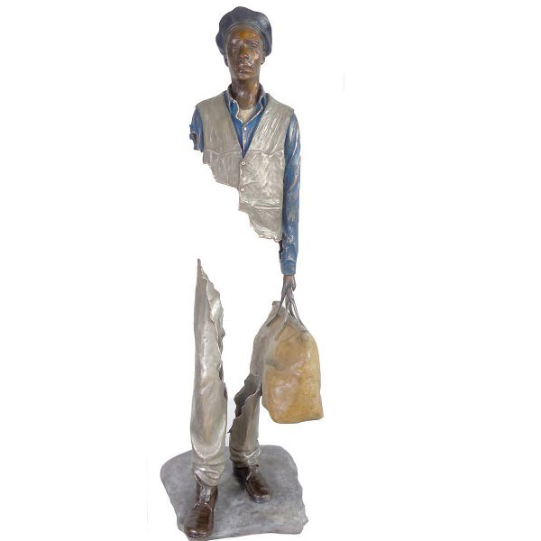 Outdoor Famous Art Bronze Traveler Sculpture for Sale