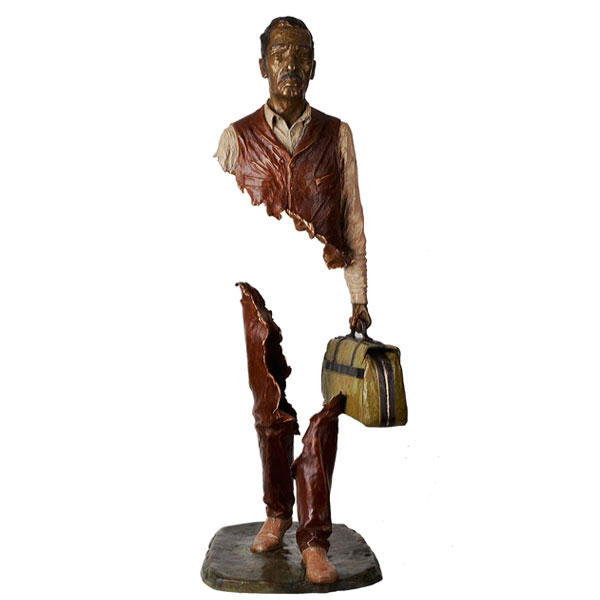 Outdoor Famous Art Bronze Traveler Sculpture for decor