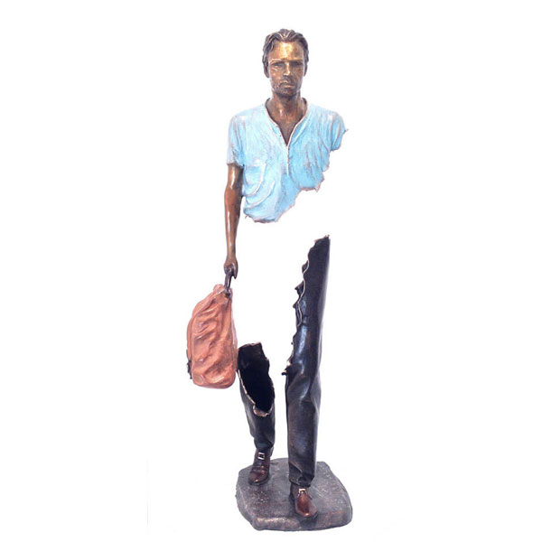 Western bruno artist sculpture for garden